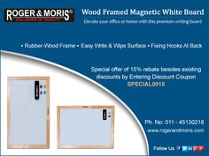 Writing Boards, Magnetic White Board, Discount Coupons, Magnets, Surface, Wood, Frame, Easy, Madeira