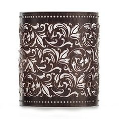 Celebrating Home OOH LA LAMP JACKET - DAMASK Metal. 4 1/2 x 5 1/4 inches.  Place orders now, will be processed Aug 1, 2014 bamaro2005@aol.com