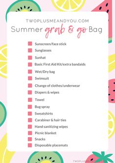 Summer Grab & Go Bag