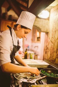 A taste of #Berlucchimood: chef at work, Palazzo Lana, Berlucchi Winery, Franciacorta, Italy
