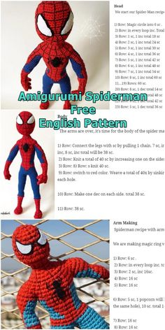 Amigurumi Spiderman Free Crochet Pattern - Crochet.msa.plus