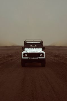 Land Rover roving on and