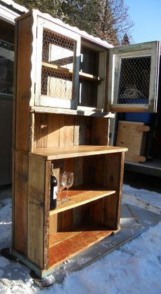 Hutch I built from an old window www.idahorustictreasures.com