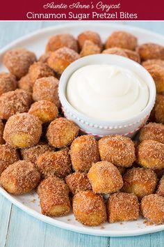 Auntie Annes Copycat Cinnamon Sugar Pretzel Bites