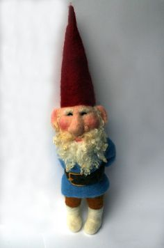Needle Felted Fairytale Gnome by Laura Lee Burch of lauraleeburch on Etsy