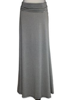 Ivory Striped Maxi Skirt - These are so versatile! $39.00