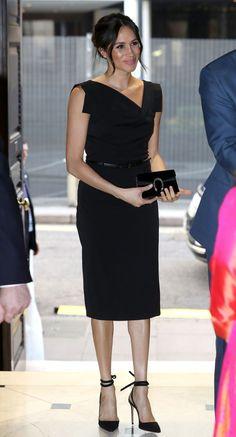 meghan markle black dress