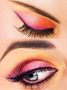 Pink n Gold Eye Makeup Idea