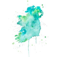 Ireland Love (1,035 PHP) ❤ liked on Polyvore featuring home, home decor, wall art, ink painting, watercolour painting, water color painting, watercolor painting and watercolor wall art