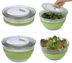 Centrifugador de vegetales plegable