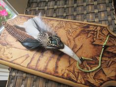 Do you need assistance in smudging those negative energies away? How about the help with one of these hand crafted smudge fans. Beautiful sculpted design, buffalo tusk, and stunning feathers. You are more than welcome to contact me. Don't forget to share with all your friends!