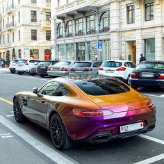Flipcolor GTS 💯 #Mercedes #Benz #AMG #GTS #Zurich  Follow my friend @luxurylifestylemagazine