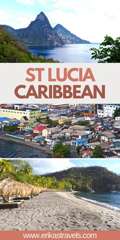 Traveling to St Lucia? This guide to the Caribbean Island showcases the best ways to experience St Lucia on a budget. Including what to do, things to see, where to eat, places to stay, and more! St Lucia Island, St Lucia Caribbean, Visit Jamaica, Travel Guides, Travel Tips, Caribbean Vacations, Most Beautiful Beaches, Destin Beach, Beautiful Islands