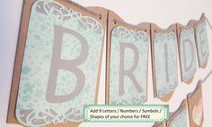 Bridal Shower Banner / Wedding Decor / Rustic by ClairPaperCrafts