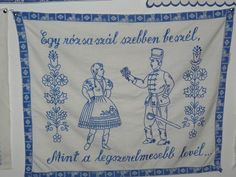 Falvedo: Egy rozsaszal szebben beszel,Mint a legszerelmesebb level. Embroidery Neck Designs, Hungarian Embroidery, Mint, Sewing, Crafts, Hungary, Vintage, Cross Stitch, Drawings