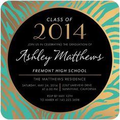 Gilded Streaks - #Graduation Invitations - Victoria Justice - Gilded Brown #TinyPrintsGrad