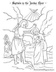 Baptism in the Jordan River   Catholic Playground