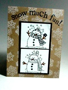 More Than a Little Ink ... Celebrating creativity with Jan Moxey through the paper arts.: Flakey Friend #4- Snow Much Fun