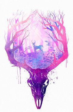 deer skull | Tumblr