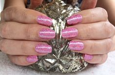 Gel II with Magpie Beauty Glitter and Models Own Chrome polish stamping on natural nails by Divine By Design, love these xDBDx