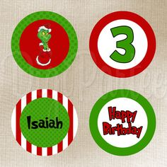 Grinch Favor Tags