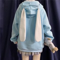Kawaii Fashion, Cute Fashion, Fashion Outfits, Emo Fashion, Ropa Color Pastel, Winter Hoodies, Kawaii Clothes, Kawaii Outfit, Cute Casual Outfits