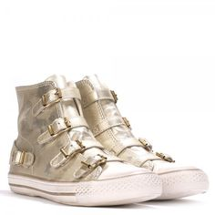 New in: Virgin gold leather