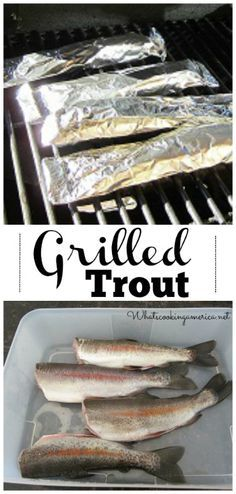 Grilled Rainbow Trout Recipe Enjoy these top-rated grilled fish recipes outdoors this summer. Recipes include gingered honey salmon, tilapia piccata and even grilled fish tacos. Grilled Trout Recipes, Whole Trout Recipes, Lake Trout Recipes, Trout Fillet Recipes, Rainbow Trout Recipes, Cooking Rainbow Trout, Rainbow Trout Recipe Baked, Grilled Food, Dogue De Bordeaux
