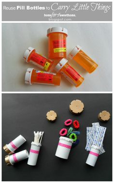 Recycled pill bottle spice jars funny gift for a doctor for Things to do with pill bottles
