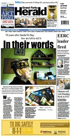 June 6, 2014 #GrandForksHerald #Newspaperdesign #Frontpage #JanelleVonasek