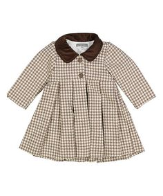 Look what I found on #zulily! Brown Wool Blend Peacoat - Infant & Toddler #zulilyfinds