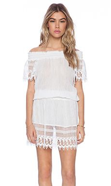 Miguelina Gabby Off The Shoulder Dress in White