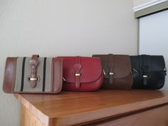 My collection: First generation Dooney and Bourke Bridle leather bags (heat stamp)