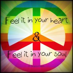 Peace in heart and soul via Peace Flash on Facebook