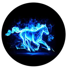 FIRE HORSE BLUE- Logo Puddle Light Blackenwolf.com