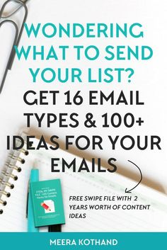 It's a struggle knowing what exactly to send your subscribers right? In this post I break down 16 different types of emails you can send your list and have a bonus swipe file of 100 plus email content ideas.  You definitely want to send email type #7 to build trust with your audience.