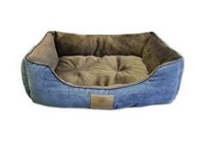 American Kennel Club Mason Cuddler Solid Pet Bed, Large, Blue