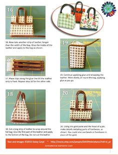 how to: miniature bags