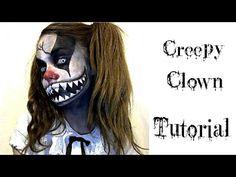 Halloween Ideas makeup & face paint - Creepy Clown - YouTube