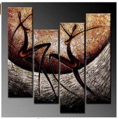 Barato 4197 pintado à mão 4 peça pintura a óleo sobre tela arte para decoração de casa como presente original da dança e cinza, Compro Qualidade Pintura & caligrafia diretamente de fornecedores da China:        Transformar suas fotos em belas pinturas sobre tela            Nós podemos personalizar o seu fim, retrato