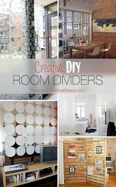 From hanging room dividers to room divider Ikea hacks, we have so many to choose from! Here are our top picks for DIY room divider ideas for your small space decorating! Diy Room Divider, Room Dividers, Deco Dyi, Diy Home Decor, Room Decor, Ideas Hogar, Ideias Diy, Decoration, Home Projects