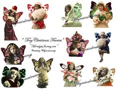 Tiny Christmas Faeries Collage Sheet