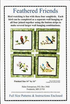 DIY Spring Quilt Feathered Friends Pattern For Songbird By