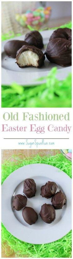 Old fashioned Easter Egg Candy (made with potatoes!) -- http://SugarSpunRun.com