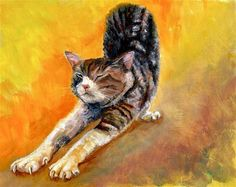 """Daily Paintworks - """"The stretch"""" by Karen Robinson"""