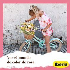 """El mundo no es de color de rosa, pero eso no significa que no sea maravilloso🌈Igual de maravillosa es esta foto que nos ha enviado @jordina_fontrodona de su hija, disfrutando de su bicicleta 🚲 y de su """"nueva"""" camiseta con estampado #tiedye hecho con nuestro #TinteRosa 🌸Nos hemos quedado prendadxs de ella⠀ ·⠀ Y tú, ¿ya has puesto en práctica esta técnica? 🎨Si tenéis alguna duda, podéis dejarla por aquí o enviarnos un mensaje directo: os ayudaremos en todo lo que podamos!!🙌🏼 Color, Printed Tees, Daughter, Bike, So Done, Style, Colour, Colors"""