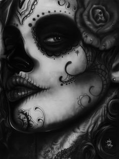 "mymortalself: ""kitty-batass: ""Dia de los Muertos "" Love!!! """