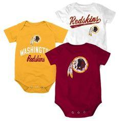 Infant Washington Redskins Majestic Gray Little Player Creeper, Bootie & Bib Set
