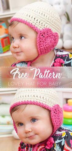 60a5480450b Lovey Hat for Baby – Free Crochet Pattern – Crochet Love Crochet Baby  Clothes