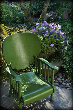 I'd love to have a collection of old chairs in my home one day.
